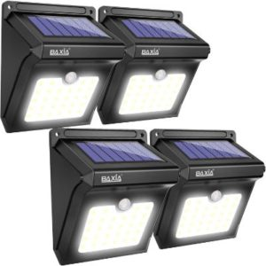 BAXIA TECHNOLOGY security outdoor solar flood lights
