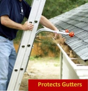 Ladder-Max Stand-Off Ladders for Cleaning Gutters