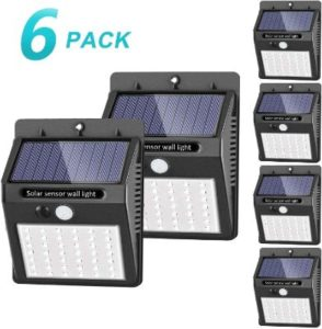 SEZAC outdoor solar flood lights with 3 working modes
