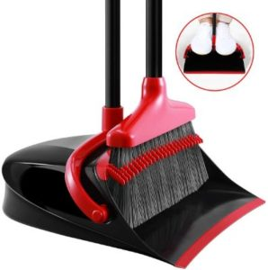 Homemaxs Broom for Pet Hair with Dustpan