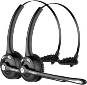 Mpow Bluetooth Headset for Truckers (2-Pack)