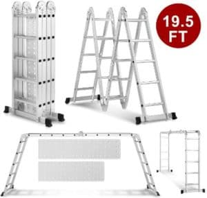 Heavy Duty Gaint Aluminum Ladders for Cleaning Gutters