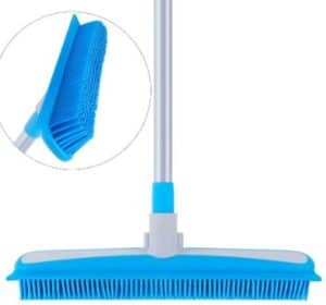 MR. SIGA Broom for Pet Hair with Soft Bristle