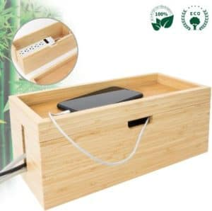 LONTAI Cable Management Box and Power Cord Organizer