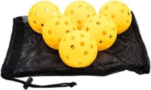 TheKidMall Outdoor Pickleballs and Mesh Carry Bag