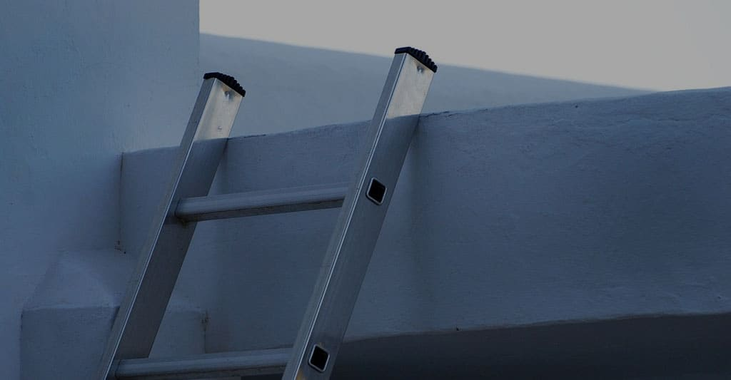 Ladders for Cleaning Gutters