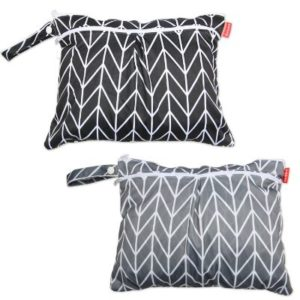 Damero 2pcs wet bag for cloth diapers