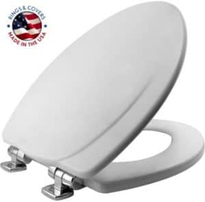 Toilet Seat With Durable Enamelled Wood