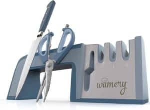 Wamery durable scissor and knife sharpener