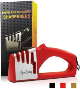 Sync Living scissor and knife sharpener with gloves