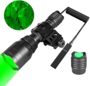 Hunting Green Light With Universal Picatinny Rail Mount