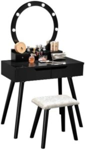 Bonnlo Makeup Vanity Tables with Lights - 8 LEDs