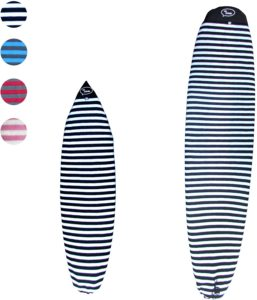Ho Stevie! surfboard travel bags with protective sock cover
