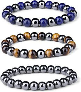 Magnetic Bead Bracelet With Natural Stones Set For Men