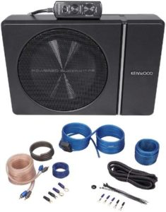 Slim Under Seat Car Subwoofer With Wire Kit