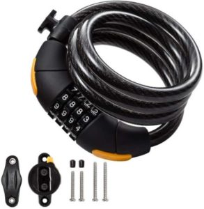 Combination Cable Lock For Electric Scooters & Bikes