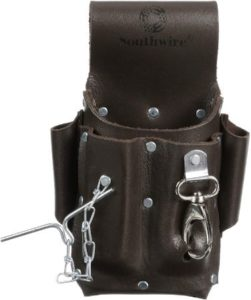Electrician Leather Tool Pouch With Pockets