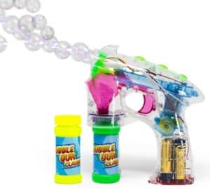 Bubble Gun With Lights & Solution Bottles