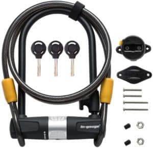 Heavy Duty Cable U Lock For Electric Scooters & Bike