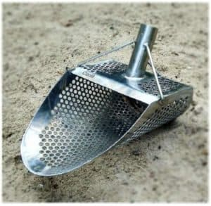 Stainless Steel Sand Scoop With Hexagon Holes