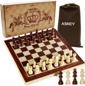 Complete Vintage Travel Chess Set With Extra Kings & Queens
