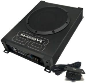 Low Profile Under Seat Car Subwoofer With Built-In Amplifier