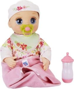 Realistic Blonde Baby Doll With Lifelike Expressions