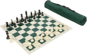 Travel Chess Set With Roll-Up Board & Storage Bag