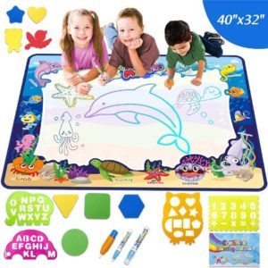 Water Doodle Drawing Mat With Under The Sea Theme