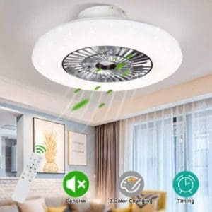 Modern Ceiling Fan With Dimmable LED Light