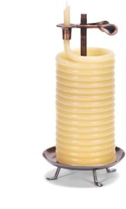 Natural Vertical Beeswax Candle
