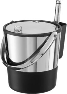 Stainless Steel Ice Bucket With Acrylic Flip Top