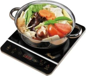 Portable Electric Induction Stove With Stainless Steel Pot