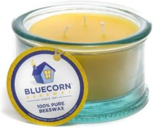 Unscented Beeswax Candle With 3 Wicks