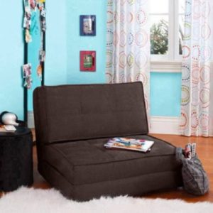 Ultra Suede Convertible Flip Chair Bed