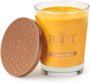 Beeswax Blend Candle With Honeycomb Glass
