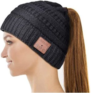 Bluetooth Beanie With Ponytail Design