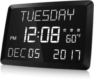 Large Digital Wall Clock With Dimmable Function