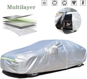 Weatherproof Portable Car Cover With Inner Cotton
