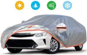 All-Weather Portable Car Cover With Adjustable Reflective Straps