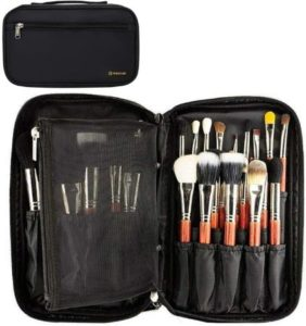 Professional Cosmetic & Makeup Brush Bag With Belt Strap