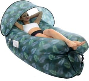 Outdoor Inflatable Lounger With Sunshade
