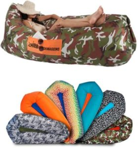 Camouflage Inflatable Lounger For Outdoor Use