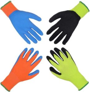 Kid's Gardening Gloves With Foam Rubber Coating
