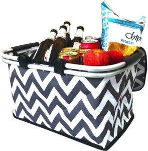Leakproof Collapsible Picnic Basket With Double Handles