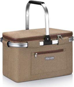 Compact & Foldable Picnic & Wine Basket
