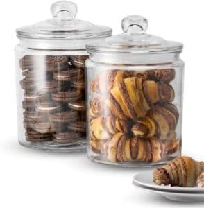 Storage Glass Canister Set For Baked Goods