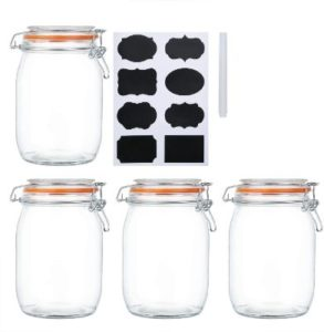 Mason Glass Canisters With Wide Mouth Set