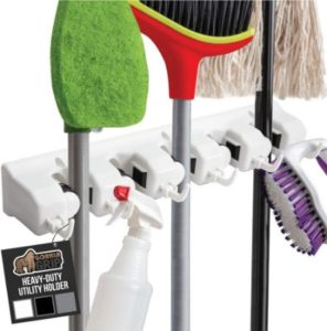Premium Mop & Broom Holder With Adjustable Slots