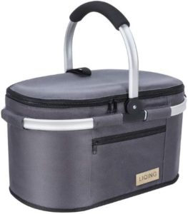 Multipurpose Collapsible Picnic Basket With Aluminum Handle